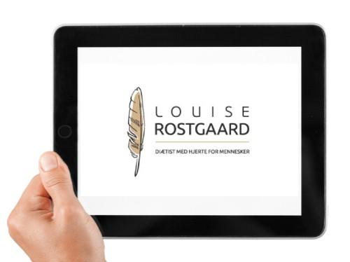 App Louise Rostgaard vist på en iPad