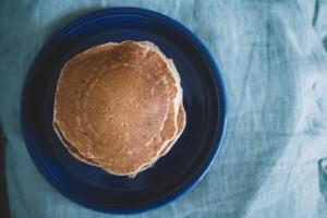 Pandekager med æg og hytteost
